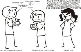 Girls Playing Video Games Meme - less talk more pokemon gurl gamer know your meme