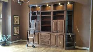 Profile Cabinets Kansas City by Built In Bookcase With Ladder K C Custom Cabinets Inc