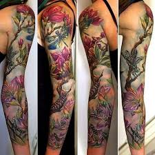 pretty sleeve tattoos for women pictures to pin on pinterest