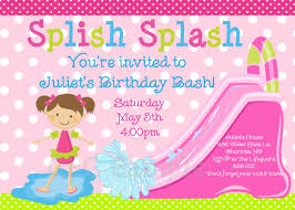 5th birthday party invitation pool party invitation water slide birthday invitation