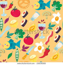 beautiful wrapping paper vector beautiful pattern food menu stock vector 239146303