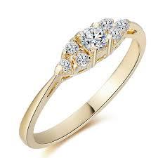 pierscionek zareczynowy złoty pierścionek zaręczynowy z diamentem 0 22ct