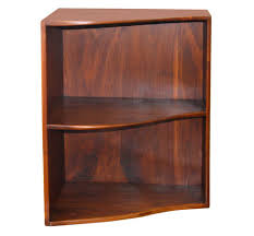 Redford White Corner Bookcase by Small Corner Bookshelf