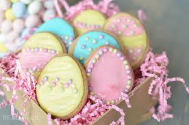 sugar easter egg easter sugar cookies a burst of beautiful