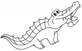 cartoon reptiles crocodile coloring pages for kids f2j