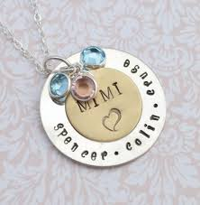 mothers day necklaces personalized grandmother pendant with birthstones family necklace