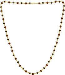 gold black bead necklace images Memoir gold capped panchmukhi rudraksha and black bead necklace jpeg