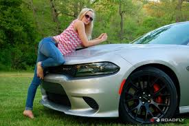 dodge charger hellcat model jess colton with the 2015 dodge charger srt hellcat
