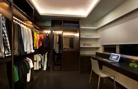 interior led closet lighting ideas with some rods opened shelves