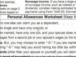 W4 Worksheet Basic Explanation Of W 4 Tax Form Personal Allowance Worksheet A