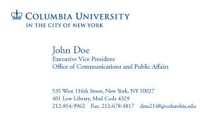 Math Tutor Business Cards Samples Letterhead U0026 Business Cards Columbia University In The City Of