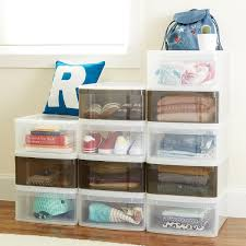 Container Store Shelves by Stackable Drawers Large Tint Stacking Drawer The Container Store