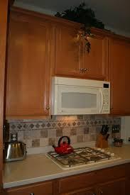Vintage Kitchen Decoration Lowes Granite Tile Backsplash Brown Oak
