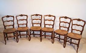 Antique Oak Ladder Back Chairs French Antique Oak Turned Leg Ladder Back Chairs