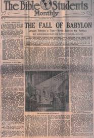 bible students monthly the fall of babylon