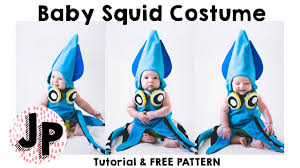 Squid Halloween Costume Baby Squid Costume Tutorial Free Pattern Halloween 2016