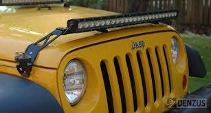 jeep jk hood led light bar lower hood light and accessory bar 2007 2015 jeep wranglers