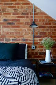 Exposed Brick Wall the loft bedroom final reveal coat rail exposed brick walls
