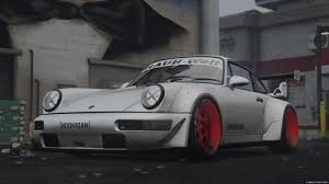 porsche rauh welt porsche 911 964 turbo hoonigan u0026 rauh welt 1 1 for gta 5