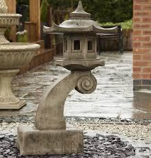 borderstone cantilever pagoda garden ornament