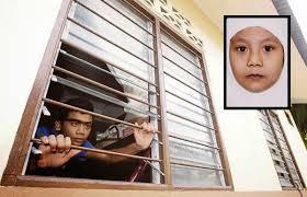 Cermin Tingkap Nako kanak kanak maut leher tersangkut besi tingkap nako 皎 abk