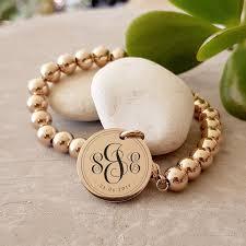 monogrammed bracelets personalised engraved monogrammed bracelets a great gift