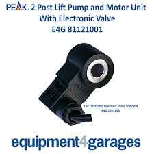 peak motor and pump 3 phase 2 post lift electronic valve