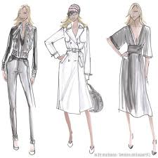 fashion design sketches of short dresses 2015 2016 fashion trends