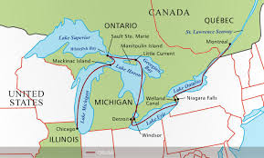 canadian map with great lakes victory great lakes cruise co
