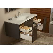 4 Ft Bathroom Vanity by Kohler K 3053 8 Ft Iron Impressions Basalt Vanity Tops Bathroom