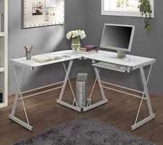 sleek desk sleek white minimalist corner desk for cool home office design with