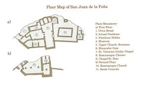 romanesque floor plan san juan de la peña pyrenees weepingredorger
