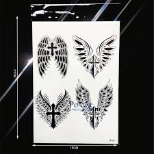 summer style temporary arm sleeve black wings