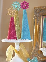 how to make glitter christmas tree decorations tos diy centerpiece