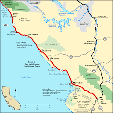 americas byways route 1 san luis obispo north coast byway map america s byways