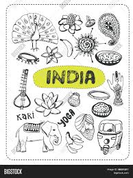 doodle indian india doodle india sketch vector photo bigstock