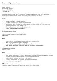 exles of entry level resumes resume objective exles entry level paso evolist co
