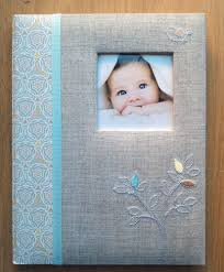 baby boy memory book cr gibson the linen tree baby boy girl gender neutral memory