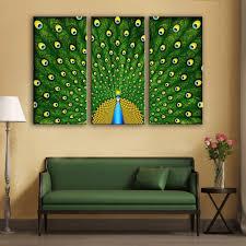 Peacock Decoration Online Get Cheap Modern Peacock Canvas Wall Art Aliexpress Com