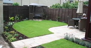 Simple Patio Ideas by The New And Simple Garden Town Layout With Patio Sunny Lawn