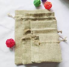 wholesale nature burlap bags jute sacks hessian mini drawstring
