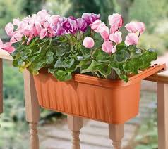 set of 2 large adjustable deck u0026 railing planters page 1 u2014 qvc com