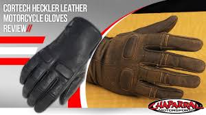 motorcycle gloves cortech heckler leather motorcycle gloves review youtube