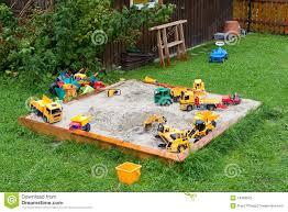 sandbox and toys stock photography image 14268542