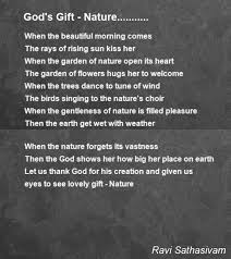 god s gift nature poem by ravi sathasivam poem