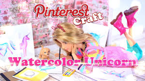 diy how to make pinterest craft watercolor unicorn paintings