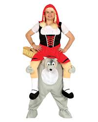 Red Riding Hood Costume Little Red Riding Hood On Wolf Carry Me Costume To Order Horror