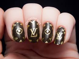louis vuitton pattern freehand nail art chalkboard nails nail louis vuitton pattern freehand nail art by chalkboardnails