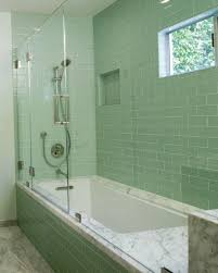green bathroom tile glass showermodern bathroom tiling