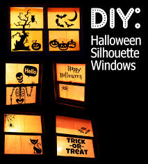 How To Make Halloween Decorations At Home Halloween Window Silhouettes Takes Around 2 Hours And Less Than 5